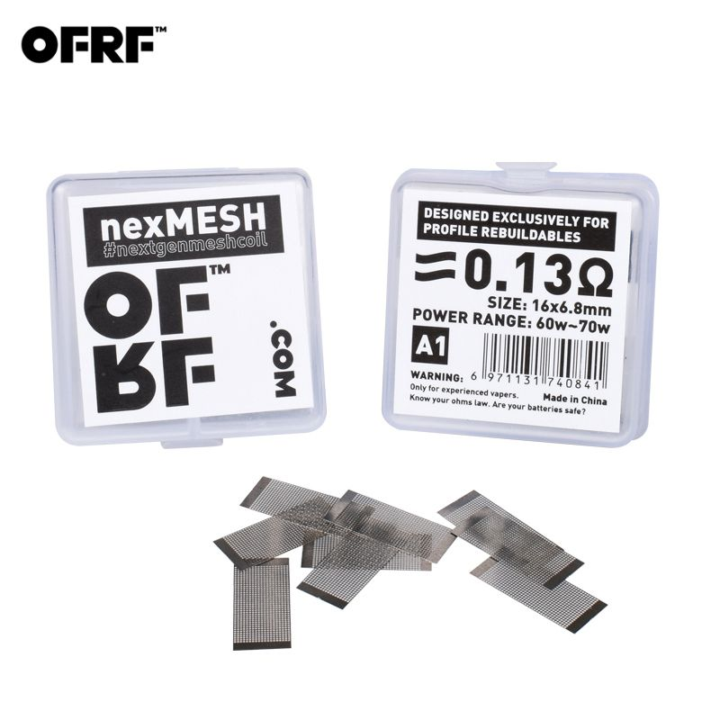20pcs/2pack Original OFRF nexMESH triple density grid mesh A1/SS316L Mesh Coil for Wotofo Profile RDA & Profile Unity RTA