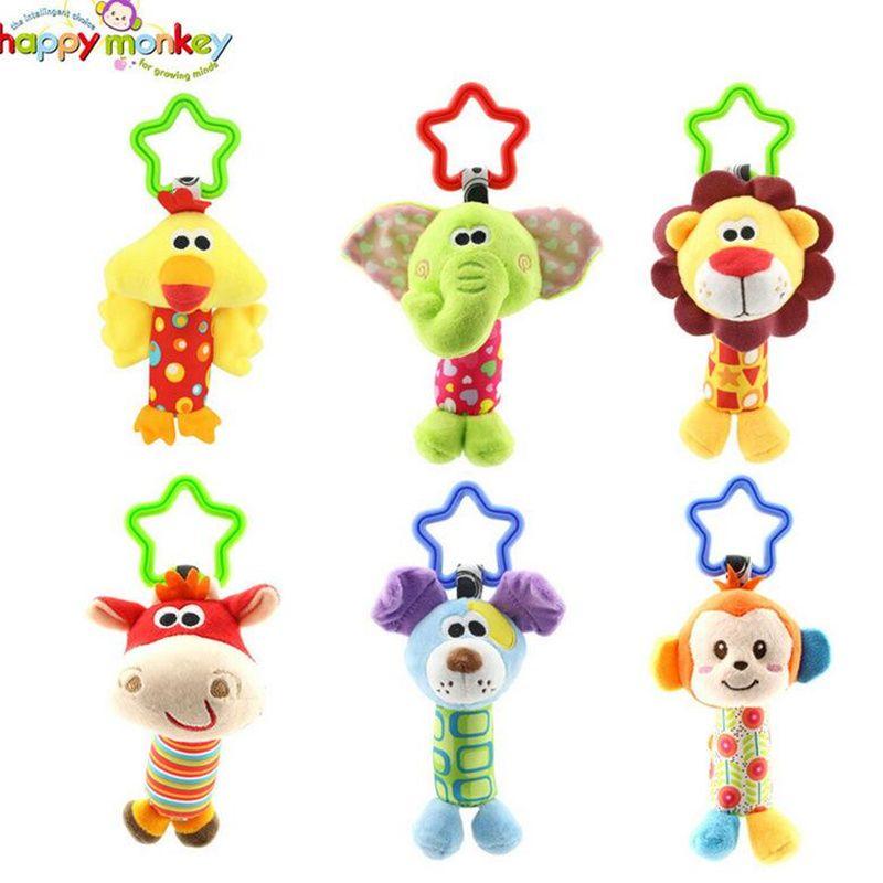 Baby Spielzeug Rassel Klirren Handglocke Multifunktionale Plüsch Kinderwagen Mobil spielzeug Geschenke 10% off