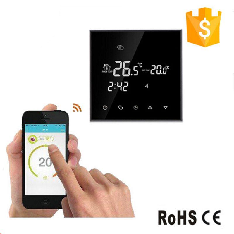 WI-FI 16a терморегулятор Сенсорный экран термостат для теплого пола, вода, Электрический Система нагрева термостат