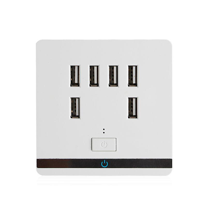 3.4A 6 ports USB chargeur mural prise prise de courant prise plaque panneau interrupteur AC 110-220 V prises