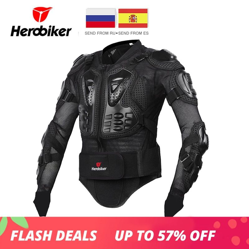 HEROBIKER Motorcycle Jacket Men Full Body Motorcycle Armor Motocross Racing Protective Gear Motorcycle Protection Size S-5XL