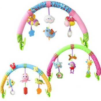 Baby Stroller Car Clip Hanging Seat & Stroller Toys Ocean Forest Sky Flying Animal mobile Rattle toy 20% off