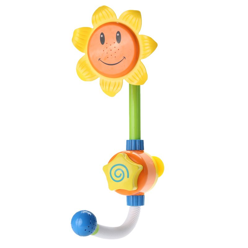 Kids Children Baby Bath Toy Sunflower Shower Faucet Bath Water Play Baby Kids Bathing Toy Gift Random Color
