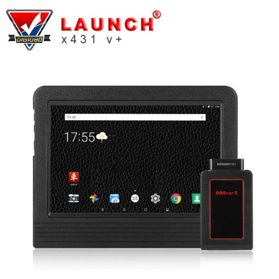 PRODUKTEINFÜHRUNG X431 V + Volle System Diagnose OBD2 Wifi Tablet Scan Tool 2 Jahre Online Update Bluetooth Stecker & Komplett zubehör