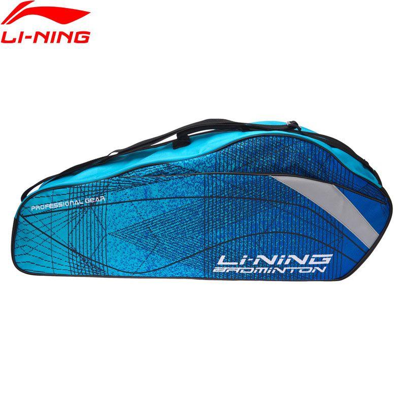 (Ausverkauf) li-Ning Badminton Professionelle Schläger Tasche 3 Schläger Last Polyester Futter Schläger Sport Taschen ABJN022 BBF255