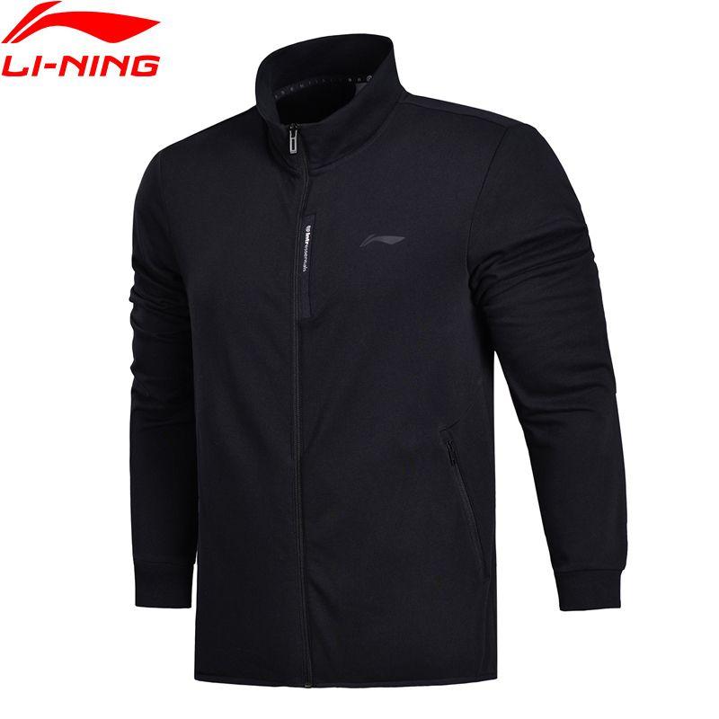 Li-Ning Men FZ Knit Top Training Sweater Slim Fit Comfort Fitness Jackets LiNing Double Fleece Sports Sweaters AWDN041 MWJ2521