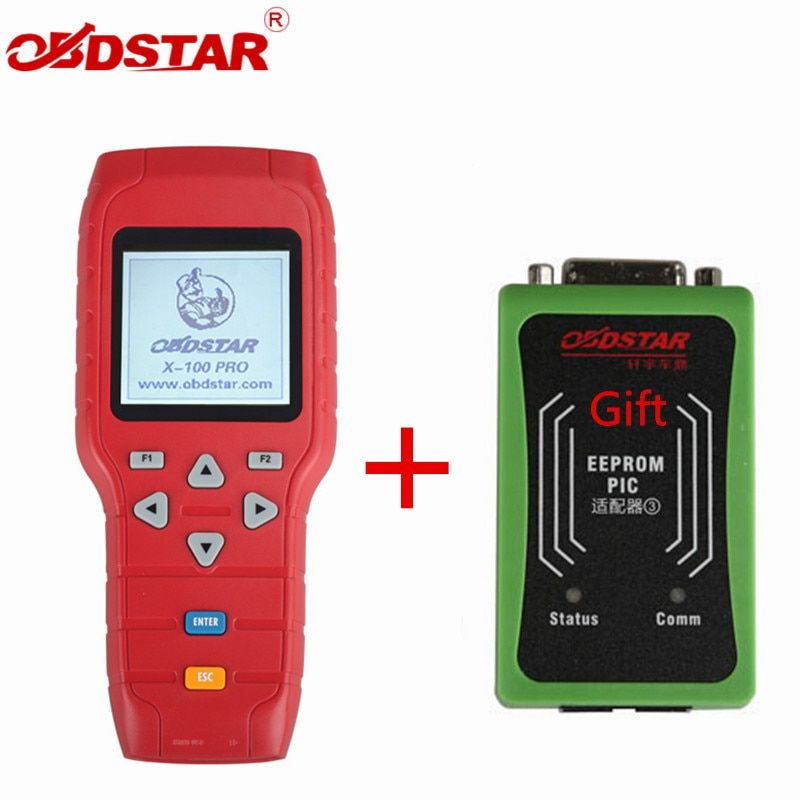 OBDSTAR X-100 PRO Auto key programmer (C+D+E) With EEPROM Adapter X100 PRO IMMO Odometer Correction OBD Software Tool