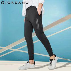 Giordano Pria Interlock CELANA JOGGER Saku Celana Olahraga Pria Elastis Pinggang Celana Pantalon Hombre