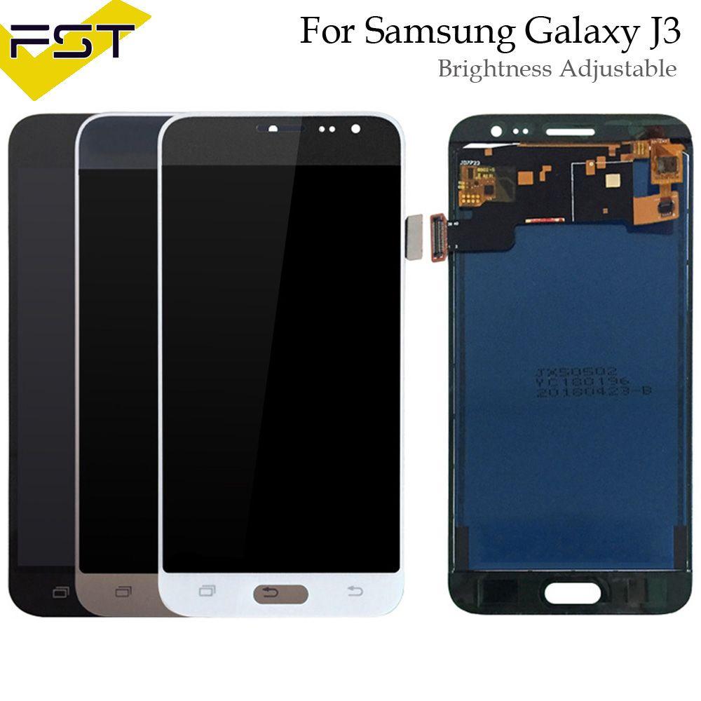 Adjust Brightness for SAMSUNG J3 2016 Display J320 J320F J320FN LCD Touch Screen Digitizer for SAMSUNG Galaxy J3 2016 Display
