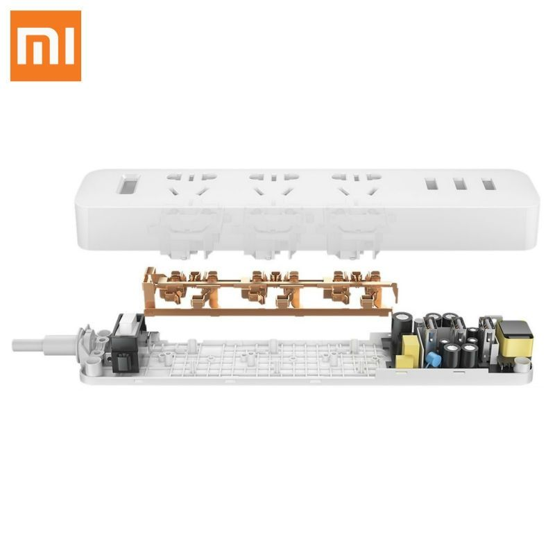 Original XiaoMi 3 USB Port Fast Charging 2.1A USB Smart Power Socket Power strip charger Portable Strip Plug Adapter For Phone