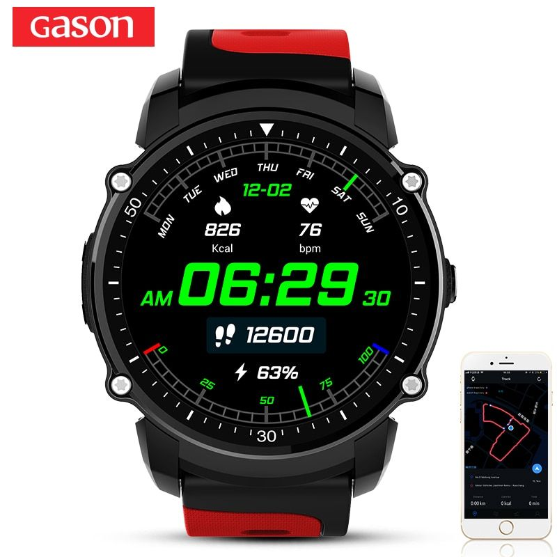 GASON E200 Smart Watch GPS Smartwatch IP68 Waterproof Color Screen Heart Rate Monitor Bluetooth4.0 Phone Multiple Sport