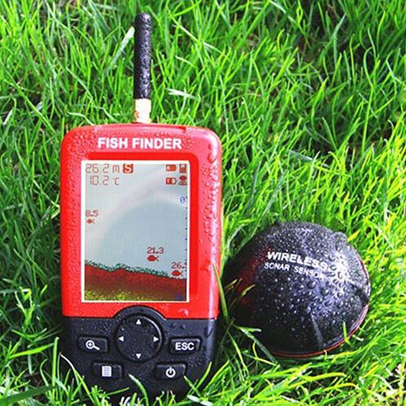 Upgraded Fishfinder wireless fish <font><b>finder</b></font> Fish Alarm Portable Sonar sensor Fishing lure Echo Sounder findfish