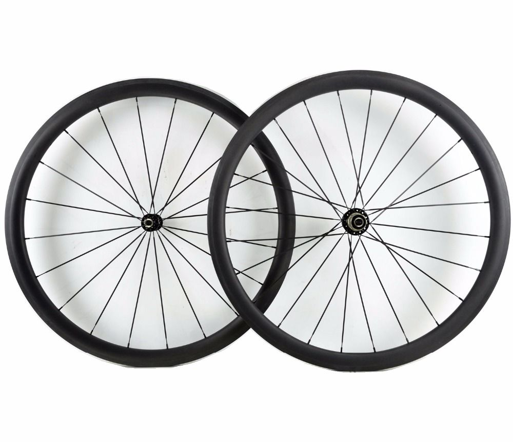 700C 38mm depth road bike carbon wheels super light 25mm width clincher/Tubular bicyclecarbon wheelset UD matte finish