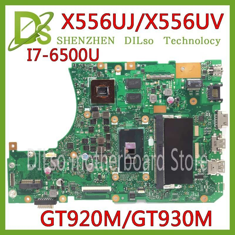 KEFU X556UJ X556UV motherboard for ASUS X556U X556UJ X556UV X556UF X556UR laptop motherboard I7-6500U GT920/GT930 Test