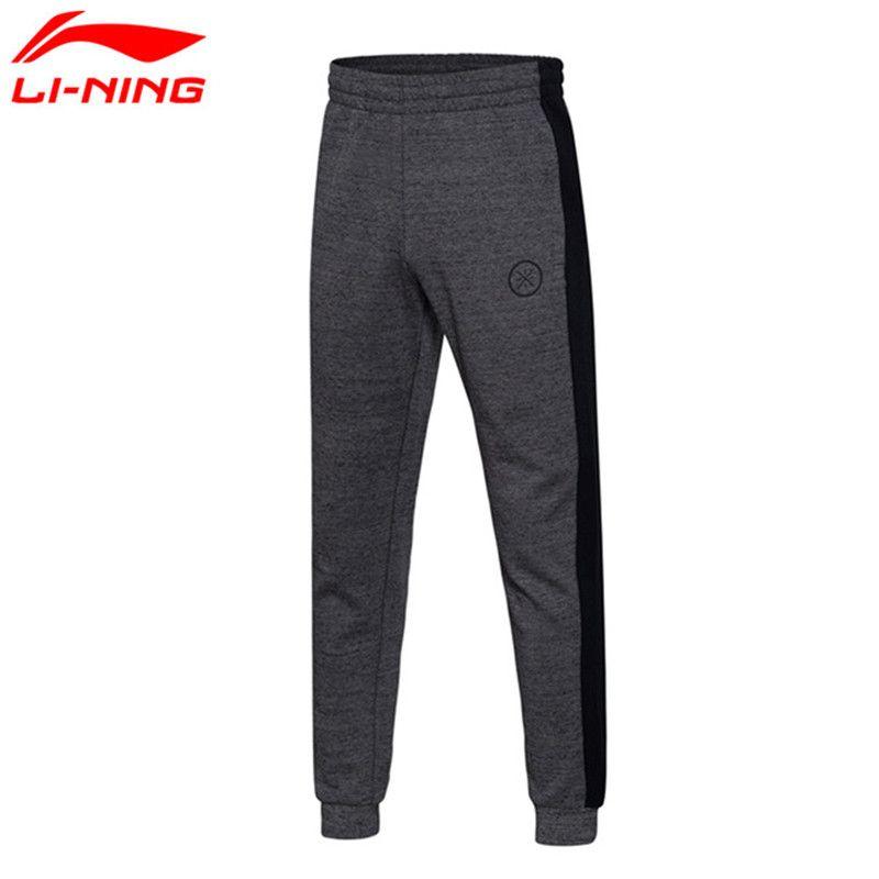 Li-Ning Men Pants Wade Sweat Pants 70% Cotton 30% Polyester Fitness Comfort Li Ning Sports Pants AKLM401