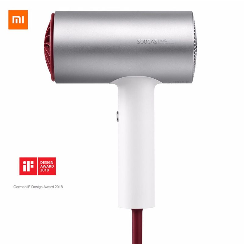 2018 New Xiaomi Soocare Soocas H3 Anion Hair Dryer Aluminum Alloy Body 1800W Air Outlet Anti-Hot Innovative Diversion Design