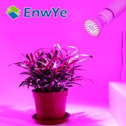 LED Lampada CFL crece la luz E27 E14 MR16 GU10 110 V 220 V lámpara de interior de la planta del espectro lleno para las plantas vegs el sistema hidropónico planta