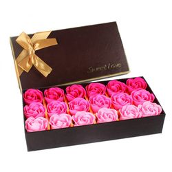 18Pcs Creative Gradient simulation rose Soap flower 4type
