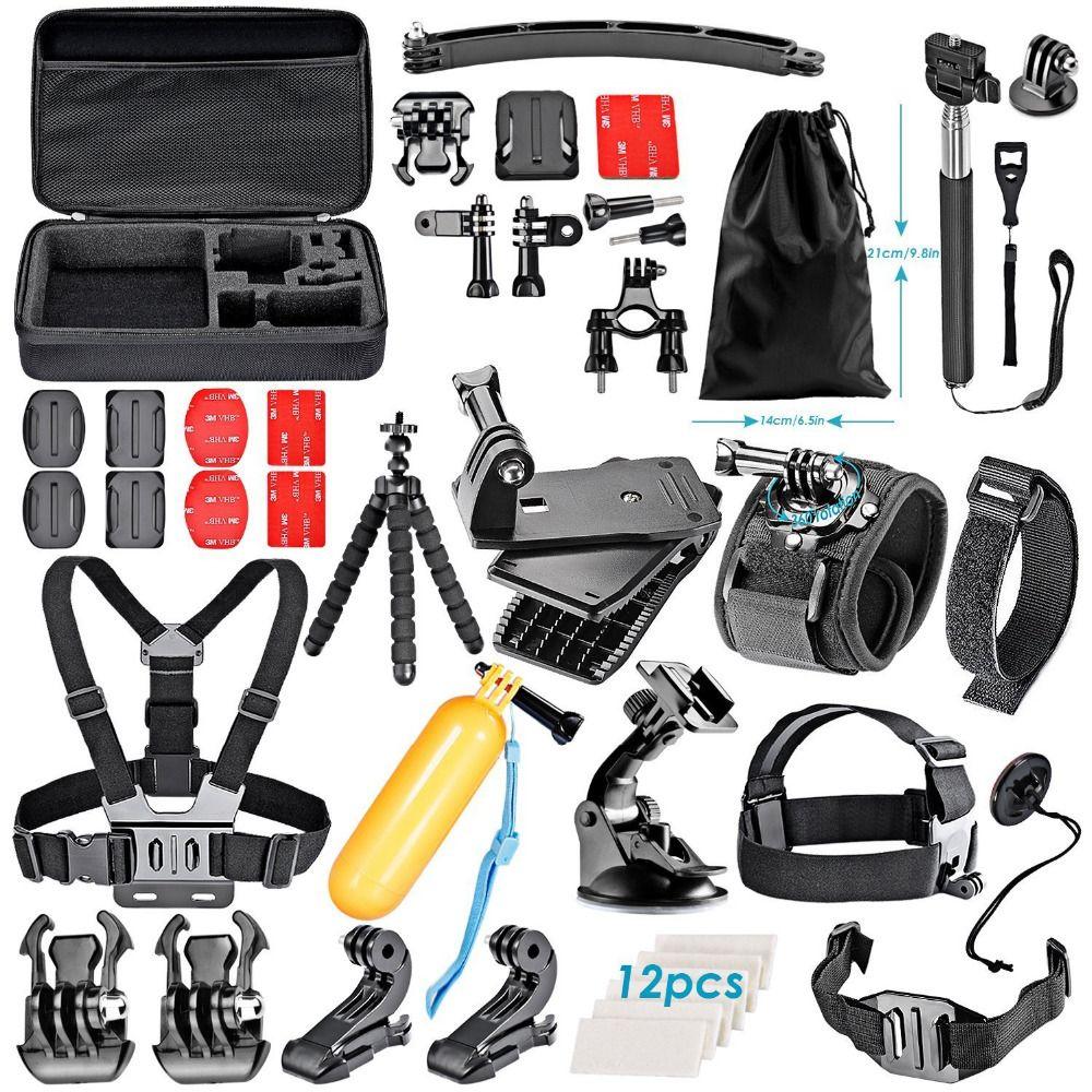 Kit d'accessoires pour caméra d'action neewer pour toutes les caméras de sport de marque: Sjcam DBPOWER AKASO APEMAN WiMiUS QUMOX Lightdow Campark