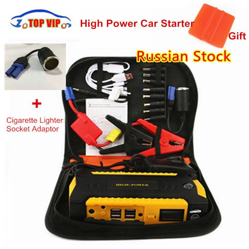 Super Power 16000mah High Capacity Starting Device Booster 600A 12V Portable Car Jump Starter Power Bank Car Starter Diesel