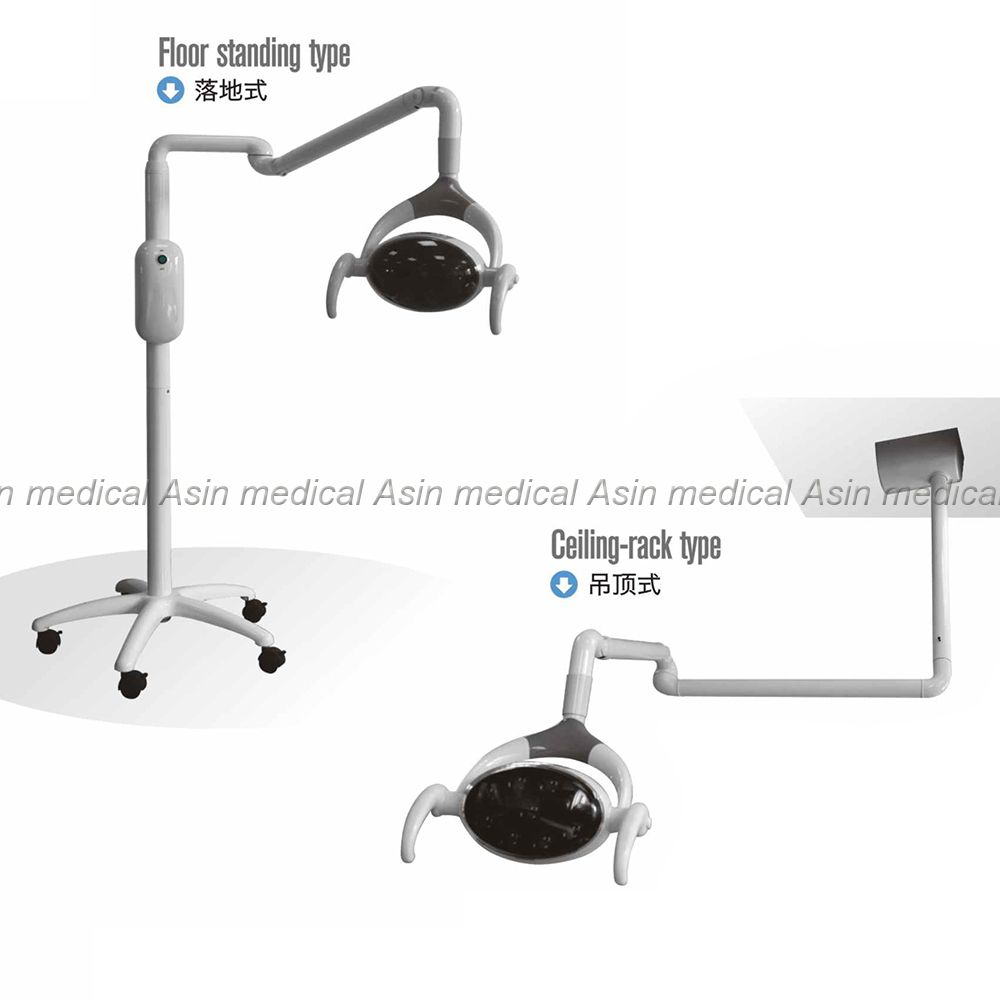 floor standing type 9 LEDs dental lamp with Sensor Oral Light Lamp color temperature adjustable for surgery
