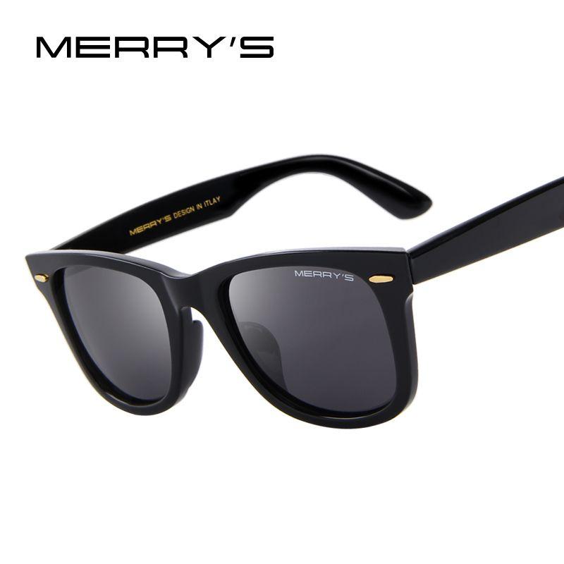 Merry's дизайн Для мужчин/Для женщин классический ретро заклепки поляризационные Солнцезащитные очки для женщин 100% УФ-защитой s'8140