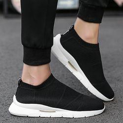 Tren 2019 Musim Panas Kaus Kaki Sepatu Pria Bernapas Sepatu Kasual Pria Fashion Pria Sepatu Super Nyaman Sepatu Pria Tanpa Renda