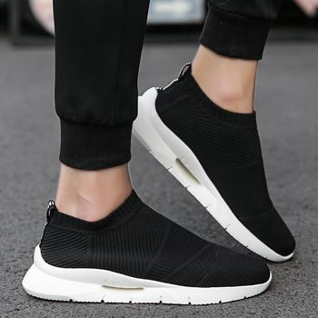Trend 2019 Summer Socks Sneakers Men Breathable Casual Shoes Men Fashion Man Sneakers Super Comfortable Men's Shoes Without Lace
