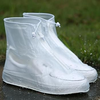 2018 Newest Reusable Unisex Waterproof Protector Shoes Boot Cover Rain Shoe Covers High-Top Anti-Slip Shoe Cover