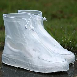 2018 Terbaru Reusable Unisex Waterproof Protector Sepatu Booting Meliputi Sepatu Hujan Meliputi Tinggi Atas Anti-Slip Sepatu Penutup