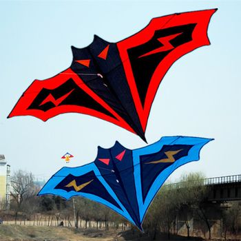 180cm Large Bat Kite Manual Stitching Kites string Easy Control Flying Toy Children Gift Outdoor Sports Toys