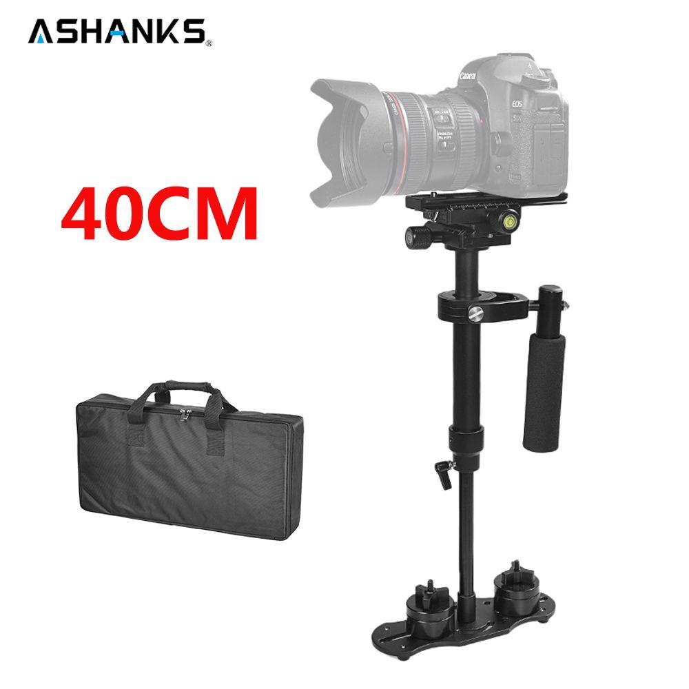 ASHANKS 40 cm/15.7 ''stabilisateur S40 stabilycam charge 1.3kg Steadicam portable pour appareil photo Studio DSLR Canon Nikon Gopro vidéo DV