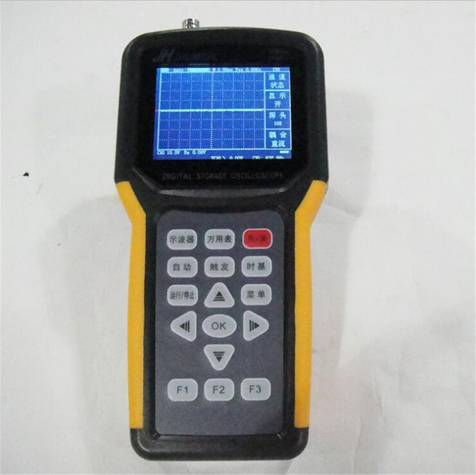Jinhan JDS2012 20MHz 200MSa/s handheld Digital oscilloscope and 4000 counts Digital Multimeter pocket oscilloscope,manufacture