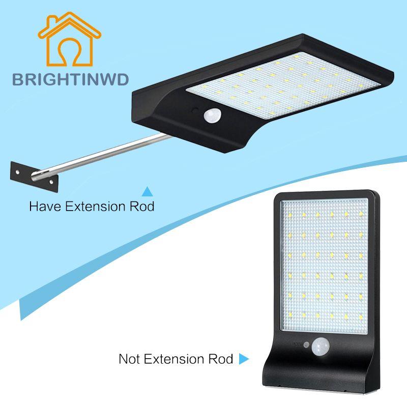 Newest Solar Power Street Light 450LM 36 LED PIR Motion Sensor Lamps Outdoor Street Waterproof Wall Lights Garden Security Lamp