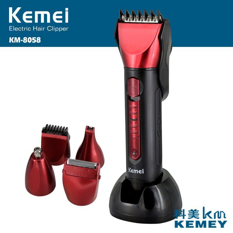 5 en 1 tondeuse à cheveux tondeuse à barbe rechargeable barber rasage électrique kemei machine de découpe maquina de cortar o cabelo