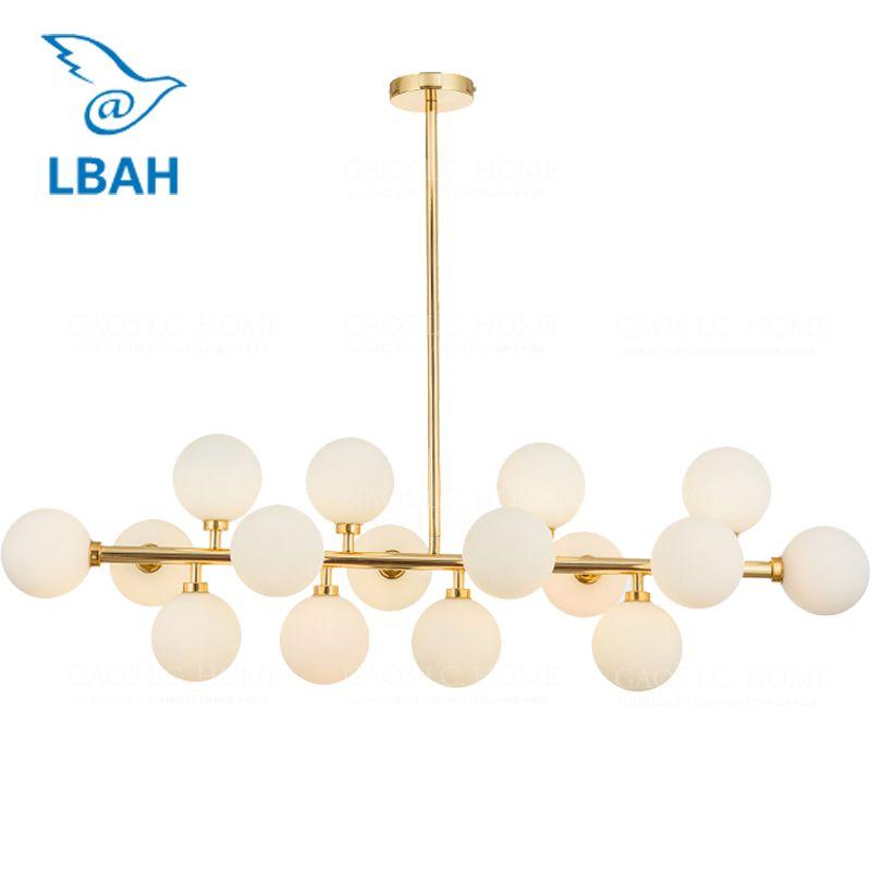 Vintage Loft Industrie Decke Lichter Schwarz Gold Bar Treppen Esszimmer Glas Schatten Retro Lindsey adelman Decke Lampe Leuchten