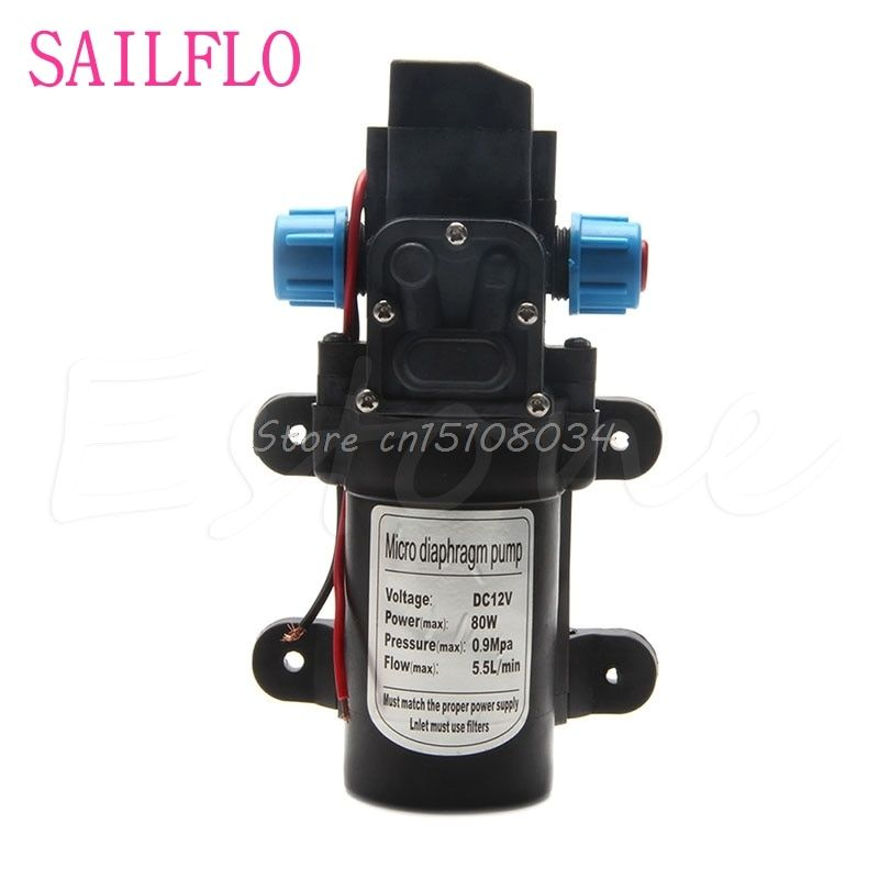New DC 12V 80W 0142 Motor High Pressure Diaphragm Water Self Priming Pump 6L/Min S08 Drop ship