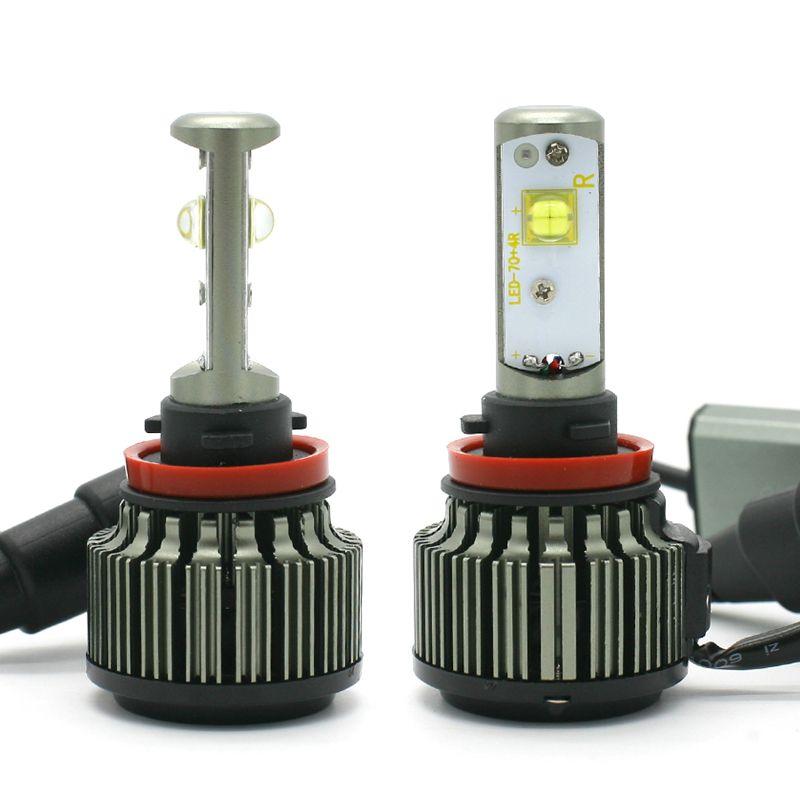 H4 LED H1 H3 H7 H11 880 H13 9005 9006 9004 9007 Hi/Lo 80W 9000LM TURBO 6000K Car Headlight Fog Light Conversion Kit Automobiles