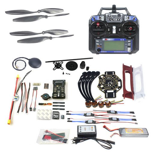 F02192-AC DIY FPV Drone Quadcopter 4-axle Aircraft Kit 450 Frame PXI PX4 Flight Control 920KV Motor GPS FS-i6 Transmitter