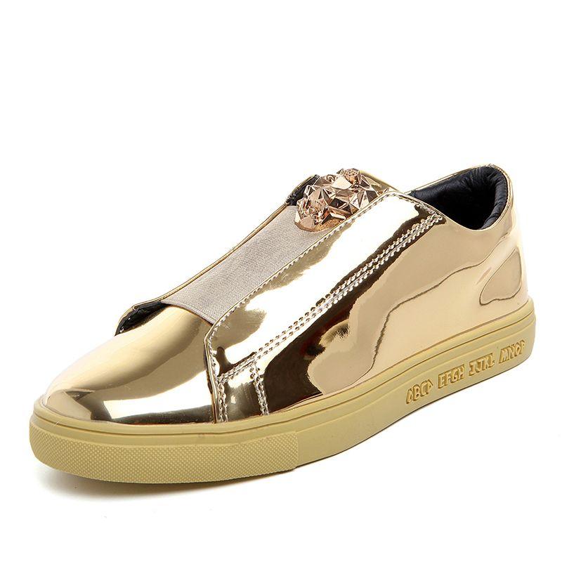 BOLE Männer Pailletten Casual Schuhe Wasserdichte Gummi Sohle rutsch Beiläufige Turnschuhe für Männer Mode Schuhe Gold Splitter 4 farben