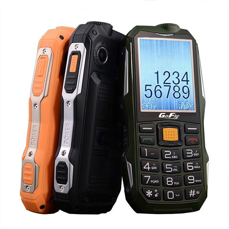 Gofly F7000 Antichoc Extérieur Robuste Téléphone Portable Senior Son Fort Torche FM Longue Veille Bluetooth De banque de Puissance de SOS Numérotation rapide