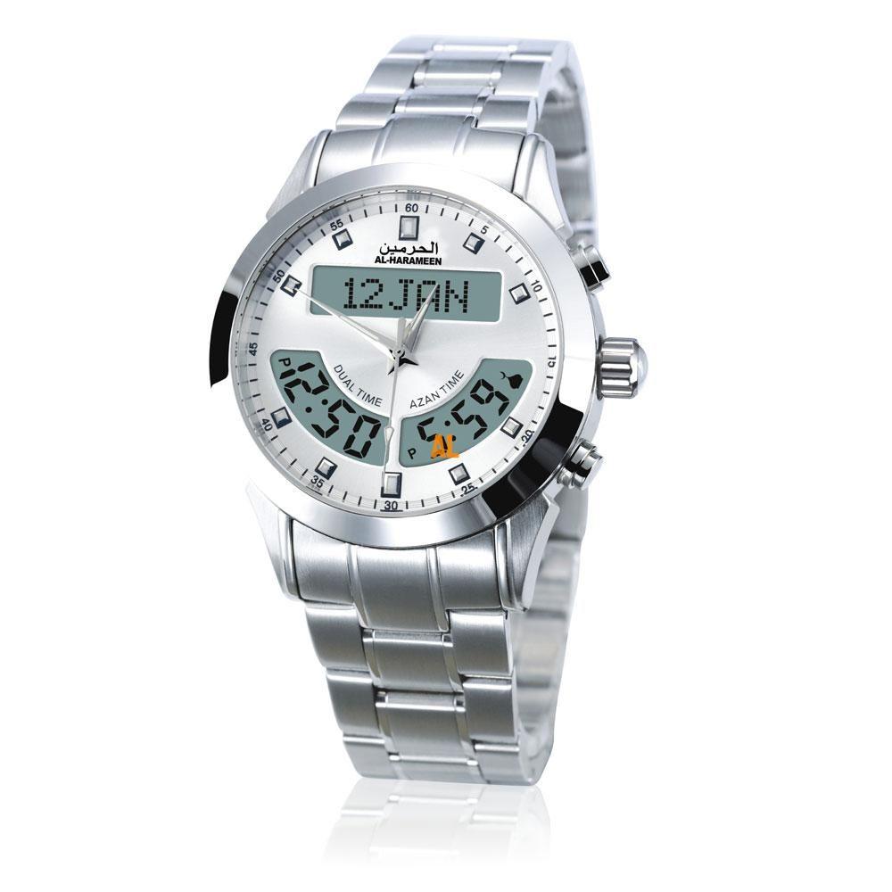100% herkunft Neueste Azan Uhr 6012 Islamischen Qibla Qatch Mit Gebet Kompass Uhr beste islamischen geschenke, weißes Zifferblatt