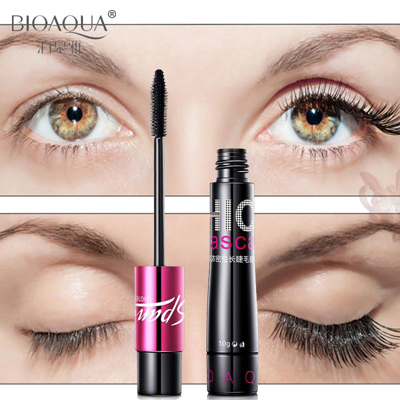 Makeup Curling Thick Natural Mascara False Eyelashes Care Make up Waterproof Cosmetics Lengthening Smudge-Proof Beauty