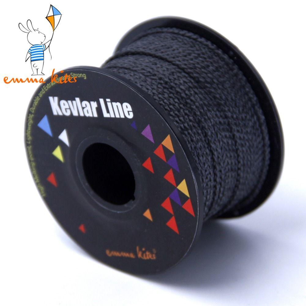 Ligne de Kevlar tressée noire de 100ft/30 m 300lb/500lb pour la pêche au cerf-volant