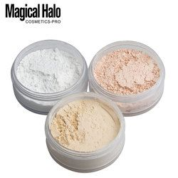 3 Couleurs Lisse Poudre libre Maquillage Transparent Finition Poudre Étanche Puff Cosmétiques Pour Le Visage Finition Cadre Avec Puff
