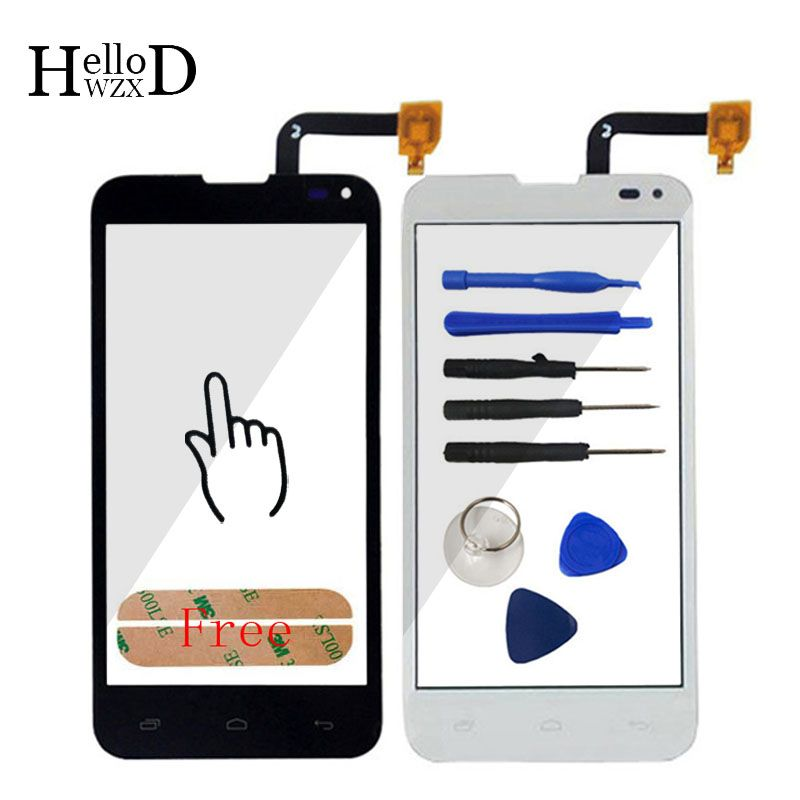 HighGlass TouchScreen For FLY IQ4415 4415 Touch Screen Front Glass Capacitive Digitizer Glass Sensor Parts + Tools Free Adhesive