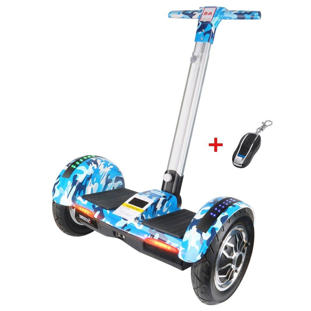 IScooter Hoverboard 10 zoll Elektrische Roller selbst Ausgleich roller Smart zwei rad skateboard Giroskuter Mit Griff Bluetooth