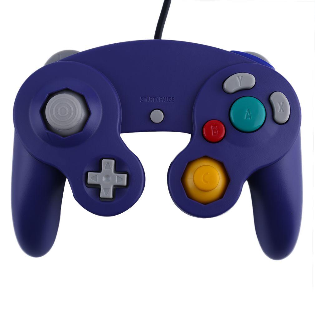 2016 Newest Game Controller Gamepad Joystick for Nintendo for GameCube For Wii Platinum Purple