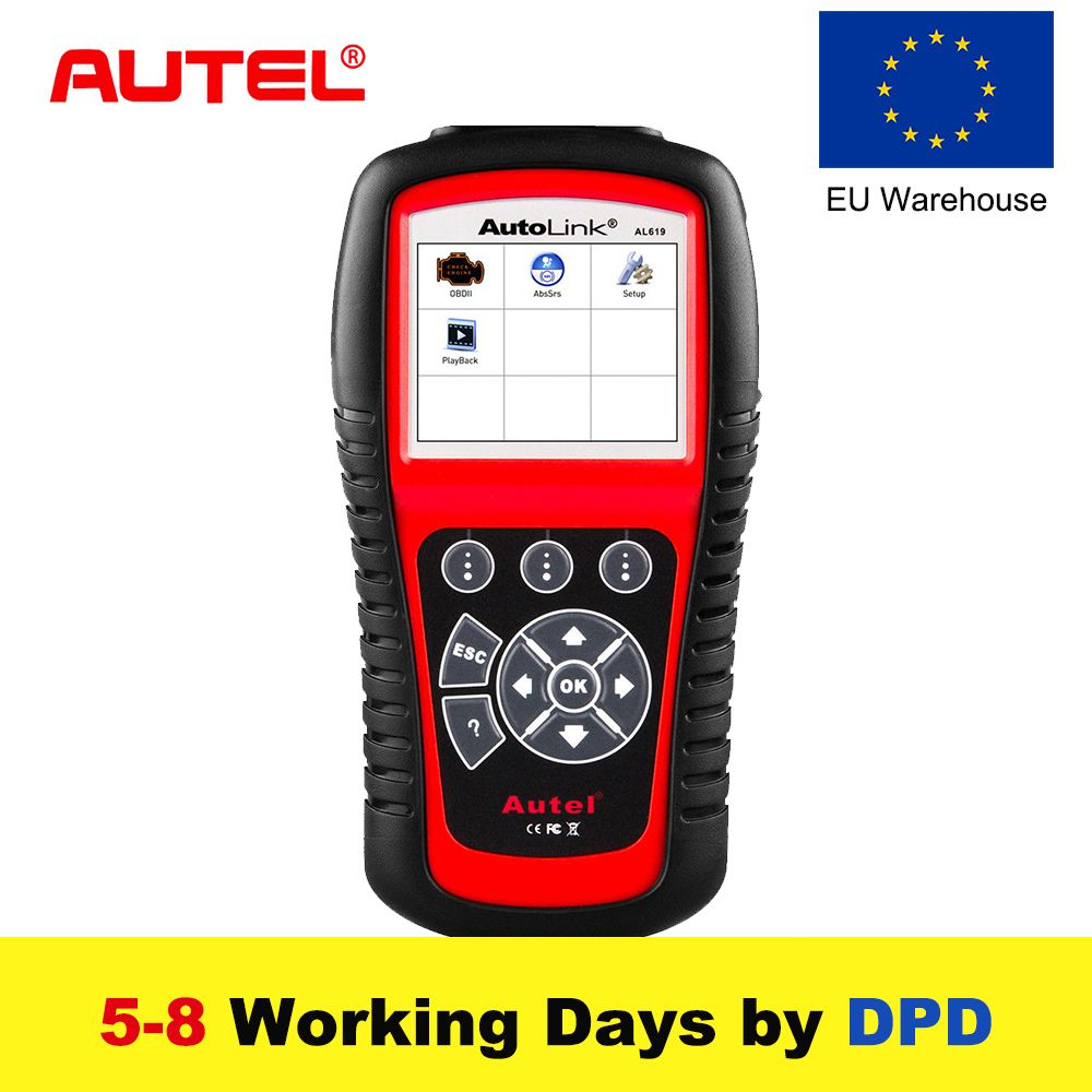 Autel AL619 OBD2 Scanner Auto Diagnose Werkzeug ABS/SRS + KÖNNEN OBD2 Scan Tool Code Reader OBDII Scanner Automotive diagnose Tool