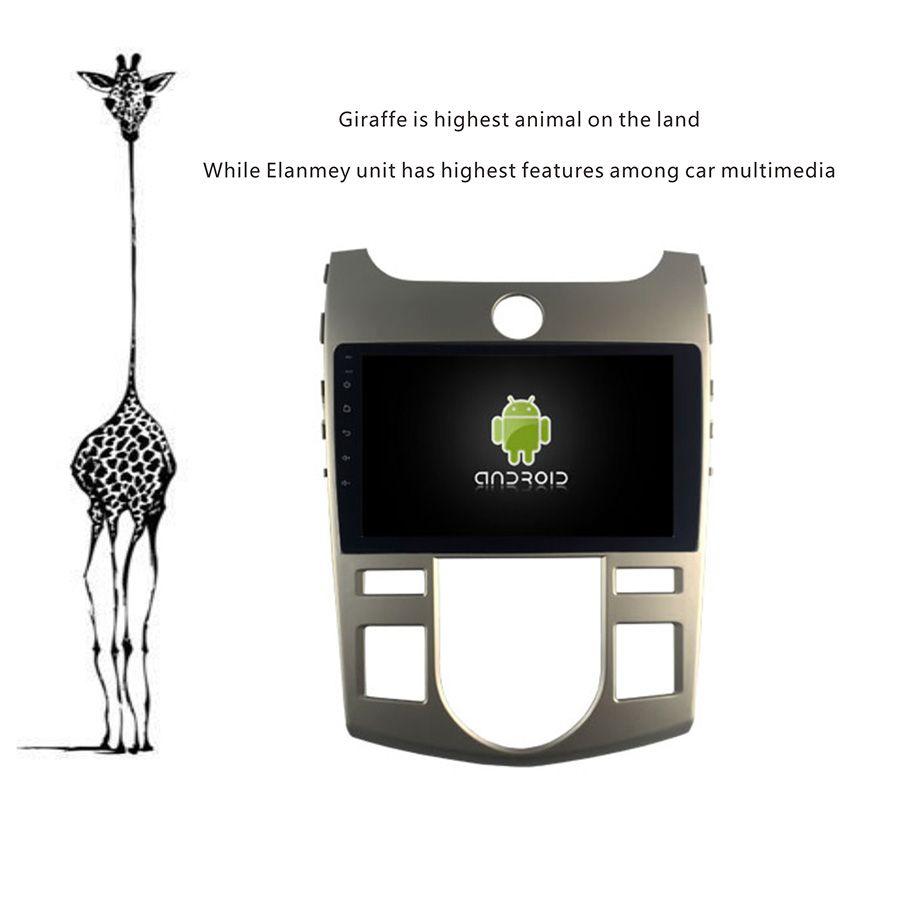 Deluxe Edition Auto Android 9.0 Player für KIA Forte Auto AC stereo Auto Tabletten 4G Lite sim karte Bluetooth GPS radio Kopf Einheit